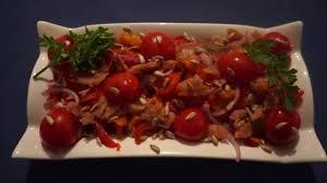 Изысканный салат с горбушей