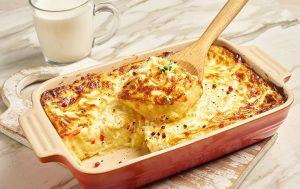 Картофельное пюре, запечённое под сырной корочкой