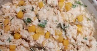 Салат с горбушей и кукурузой