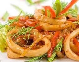 Салат из кальмаров остренький