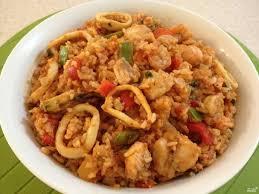 Рис с креветками и кальмаром