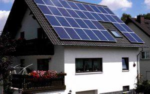 Установка солнечной батареи для дома