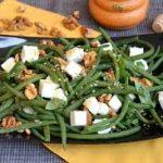Салат из зеленой фасоли с фетой