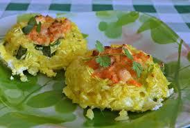 Гнёзда из кабачков с рисом