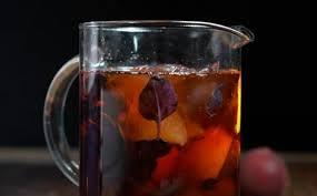 Рецепт персикового холодного чая с базиликом