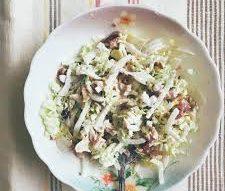 Салат с копчёной курицей и дайконом
