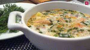 Финский рыбный суп с копченой семгой