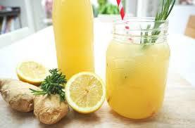 Имбирный лимонад с мёдом и мятой (без варки)
