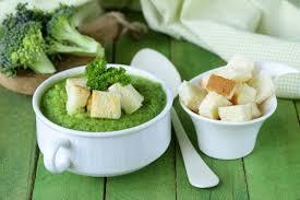 Суп-пюре из брокколи с сыром тофу