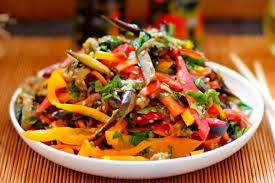 Салат из баклажанов по — корейски