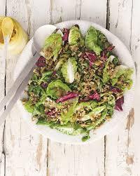 Салат из полбы, спаржи и цветной капусты