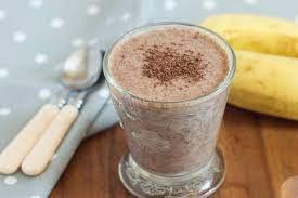 Бананово-творожный смузи с какао (без сахара)
