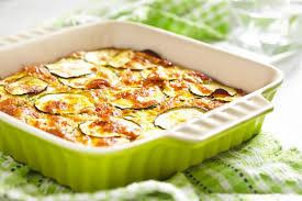 Запеканка из картофеля и цуккини под сливочным соусом