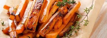 Морковь, запеченная с медом и чесноком