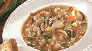 Суп из перловой крупы с грибами