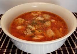 Суп с белой фасолью и картофелем