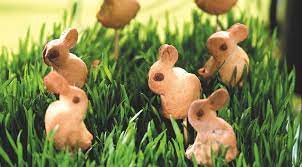 Пасхальное печенье Зайчики