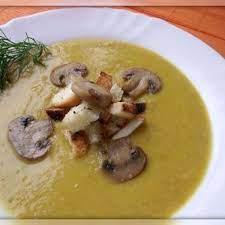 Овощной суп-пюре с грибной начинкой