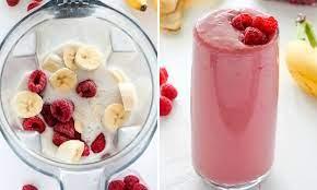 Бананово-малиновый смузи