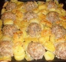 Котлеты с картошкой в духовке