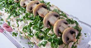 Бисквитный грибной торт