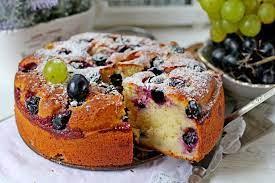 Кекс с виноградом на сливочном масле