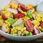 Разноцветный летний салат