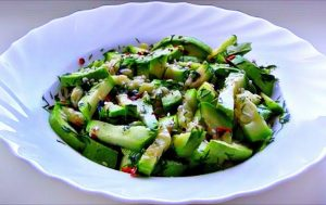 Быстрый салат из кабачков за 5 минут