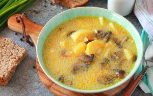 Грибной суп с булгуром