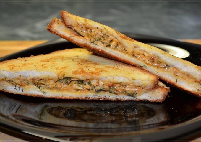 Гренки с сыром и паприкой