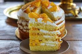 Торт со сливочным сыром и абрикосами