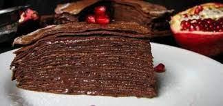 Шоколадный блинный торт на цельнозерновой муке