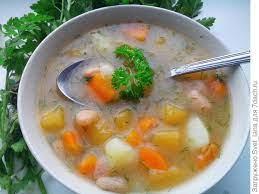 Суп из репы с бобами