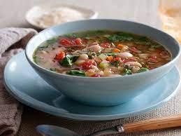 Тосканский суп из белой фасоли с фрикадельками