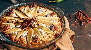 Королевский Пирог с грушами и шоколадом